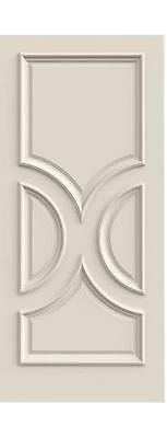 Custom Carved 4 Panel Ovals Primed Solid Core Wood Doors W/ Raised Molding R4180