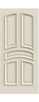 Custom Carved 5 Panel Arch Split Primed Solid Core Doors W/ Raised Molding R5020