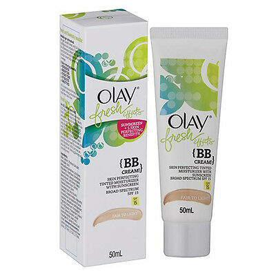NEW Olay Makeup BB Cream Face Cream Fresh Effects Hydration Sheer For Skin 50ml