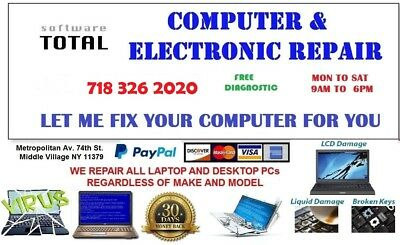 ALL Kinds of Laptop PC Computer Professional Repair Fix Service  HP DELL SONY