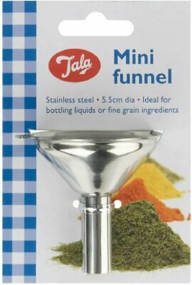 Tala Stainless Steel Multi-Purpose Mini Funnel 6.5Cm Kitchen Accessory Home New