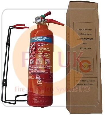 Premium En3 Kitemarked 1 Kg Dry Powder Abc Fire Extinguisher Home Office Car