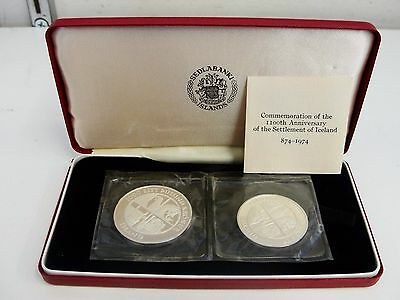 Island 874-1974 Iceland Coins - 1100th Anniversary of Iceland