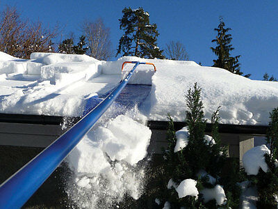 """AVALANCHE AVA500 ROOF RAKE 17' SNOW REMOVAL SYSTEM 17"""" x 8' Slide 1.5"""" Wheels"""