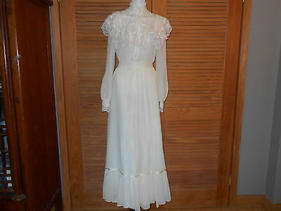 Vtg 2 Pc GUNNE SAX JESSICA McCLINTOCK Ivory PRAIRIE Skirt  Sz 9 See Measurements