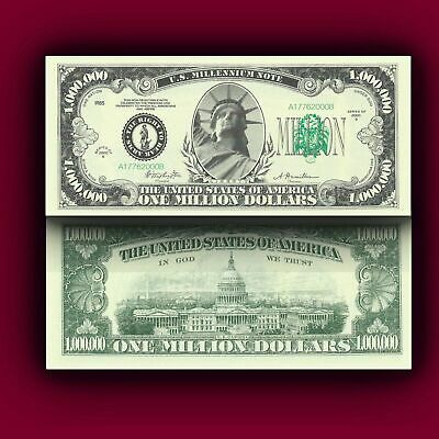 One Million Dollar Bill Play Novelty Money