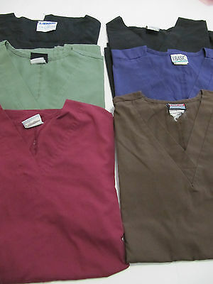 Lot Of Scrub Tops Solid  6 Tops Nice Conition  Size  Sm(Box 295)
