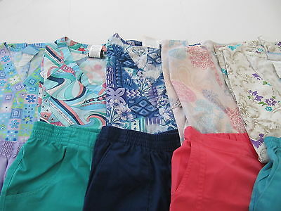 Womens Lot Of Scrubs  5 Pants 5 Tops Nice Conition  Size  Sm(Box 296)