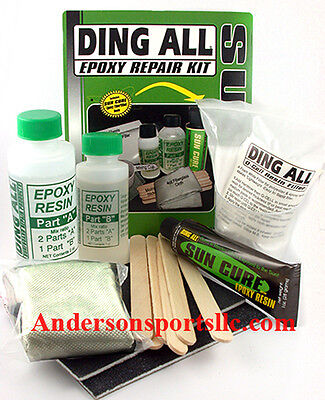 DING ALL SUPER  EPOXY  FIBERGLASS DING REPAIR KIT Sup Surfboard Surf Resin LARGE