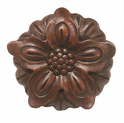 Wooden Rosette Onlay Applique nearly 4 inch