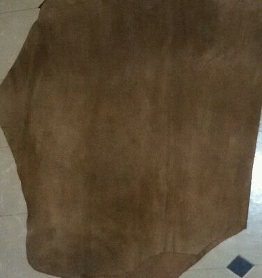 Cow Hide Leather sheet, Suede Leather Sheet Size 2 × 2 square foot approx