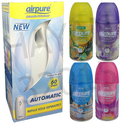 Airpure Automatic Air Freshener Unit Machine And Refill Scent Home Office