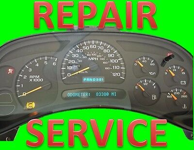 Repair Service for 2003-2006 03-06 GMC Envoy Instrument Panel Cluster
