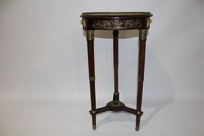 19th Century Louis XVI French Empire Mahogany Gueridon Gilt Brass Mounts