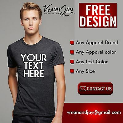 Custom Personalised Design Your Own T Shirts