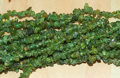 Peridot (Untreated) Chip Beads A Grade - 35 inches long (88.9 cm)