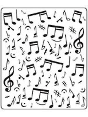 Crafts-Too MUSICAL NOTES 12.7 x 15cm Embossing Folder CTFD3029