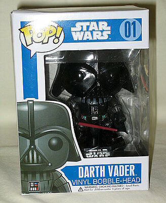 Funko Pop #1 Star Wars Darth Vader Vinyl Bobble-Head Figure-NIP