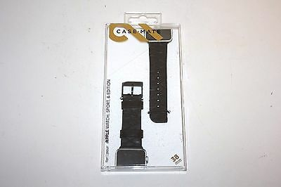 Case Mate Black Scaled Smartwatch Band for Apple Watch 38mm CM032787