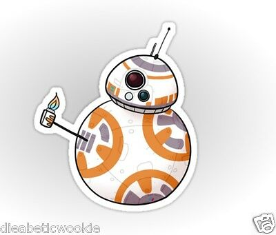 Star Wars The Force Awakens BB8 Thumbs up Droid R2D2 Sticker decal car laptop