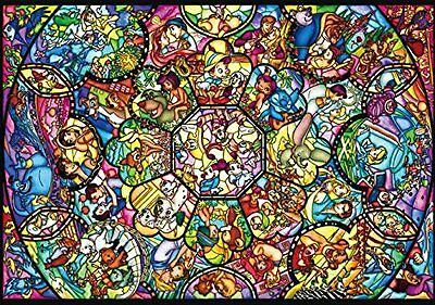 Disney All Characters  266 pcs Jigsaw Puzzle Stained Glass Art Plastic