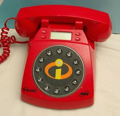 Disney's Pixar The Incredibles Red Collector Phone Telephone SBC