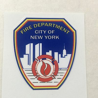 """New York Fire Department Collectors Exterior applied Decal 2"""""""