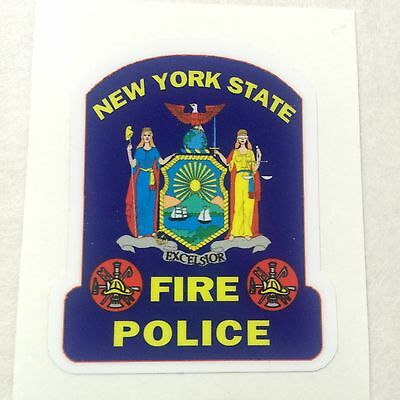 """New York State Fire Police Collectors Exterior applied Decal 4"""""""