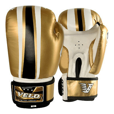 VELO Junior Boxing Gloves Kids 6oz Punch Bag Mitts Children MMA Kick Youth
