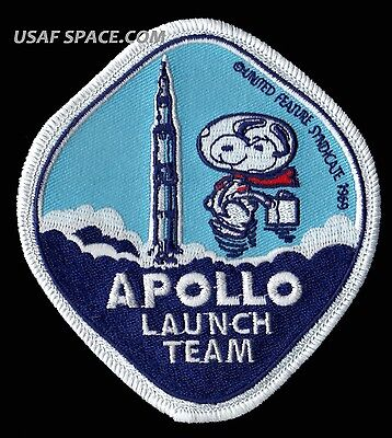 Snoopy - Apollo Launch Team - Nasa  Space Patch - Mint Condition