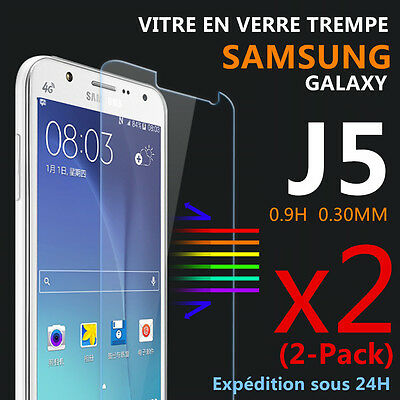 Vitre Protection Verre trempé Film De Protecteur SAMSUNG GALAXY J5 / 2016 Lot 2