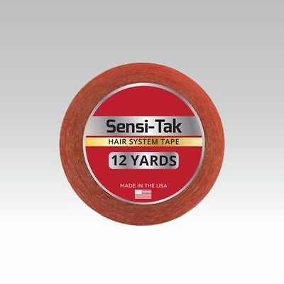 "Walker Sensi-Tak Tape (Red Tape) 3/4"" X 12 Yard Roll for Poly Units Wigs Toupee"