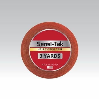 "Walker Sensi-Tak Tape (Red Tape) 1"" X 3 Yard Roll for Poly Units Wigs Toupee"
