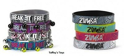 Zumba ~ Rep My Style Rubber Bracelets 2015 - 8 Pack! (4 with bells) Free Ship!