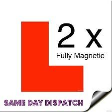 Genuine 2Pc Fully Magnetic Exterior Car New Learner L Plates Secure and Safe UK