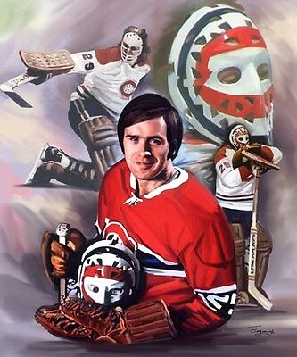 Ken Dryden : giclee print on canvas poster painting for autograph B-0133