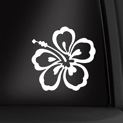 Hibiscus Flower 4 Inch Vinyl Decal Hawaii Sticker Multiple Colors Available!
