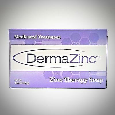 DermaZinc - Medicated Therapy Soap - 4.25oz (120gm) - 1, 2, 3, or 6 Pack