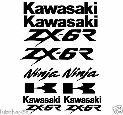 Kawasaki Ninja ZX-6R Bike Decal Sticker Graphics kit