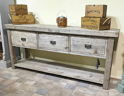 Rustic Sideboard Hall Table Console Table Country Farmhouse Reclaimed
