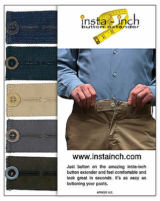 Relief pack of 5 BUTTON WAISTBAND EXTENDERS