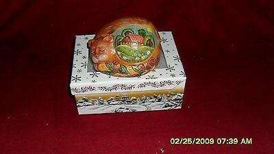 G. DeBrekht Tranquil Kitten Trinket Box Hand Painted Cat