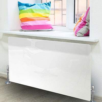 White Glass Radiator Cover - Low Surface Temperature - Glass Splashback