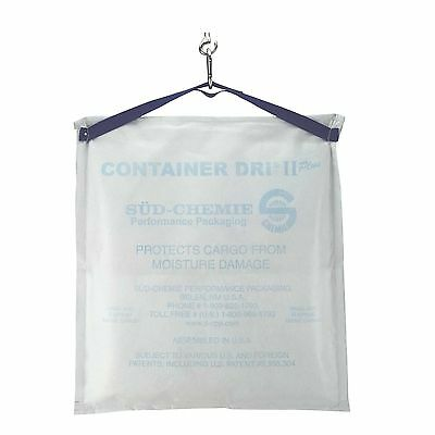 """Container Dri II Plus Cargo Desiccant 18""""x22"""" Moisture Absorber Bag New Silicate"""