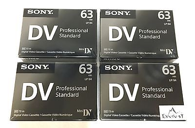 Sony DVM63PS Professional  Mini DV Minidv Camcorder video 63 Min Tape 4 Pack