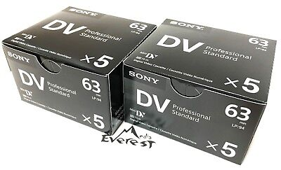 Sony Professional Mini DV Minidv Camcorder video 63 Min Tape DVM63PS 10 pack