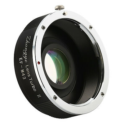 Zhongyi Turbo II Focal Reducer Booster Adapter for Canon EOS to M43 M4/3 Olympus