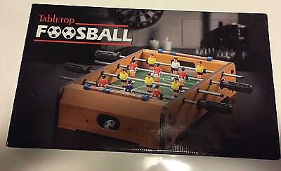 MINI FOOSBALL SOCCER TABLE FOOTBALL Tabletop Game Fun Wooden New 51 X 51 X 10cm