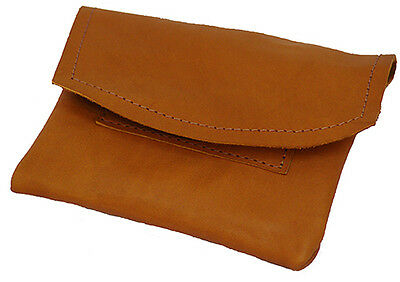 Medieval-Larp-Pagan-Reenactment-Bush Craft- Tan Leather TOBACCO POUCH