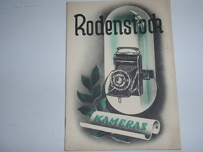 Rodenstock Caméras antique Brochure original de la Temps